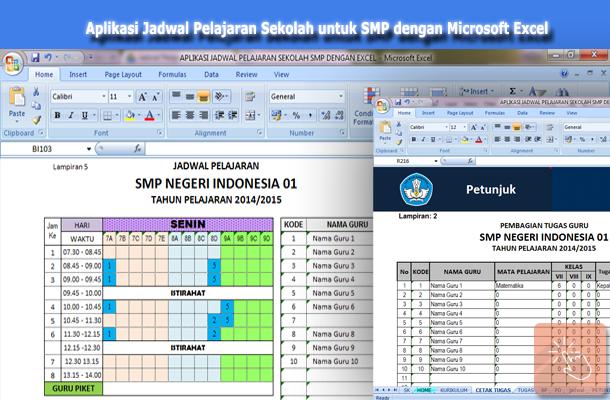 Download Aplikasi Jadwal Pelajaran Sekolah untuk SMP dengan Microsoft Excel