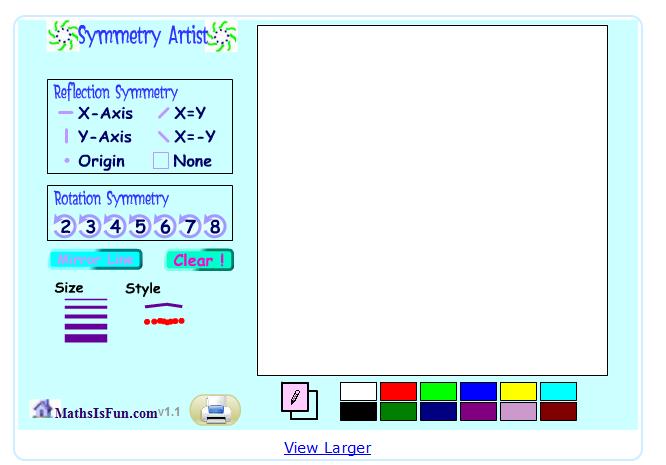 http://www.mathsisfun.com/geometry/symmetry-artist-v1.html
