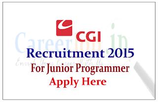 CGI Recruitment 2015 for post of Junior Programmer