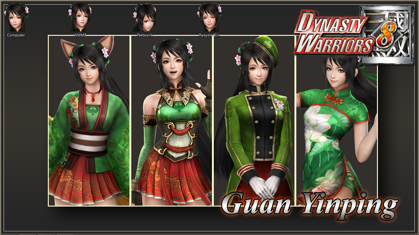 [Theme WIN 7] Dynasty Warriors 8 - Guan Yinping by Novalition Image 1 - Suck-Style
