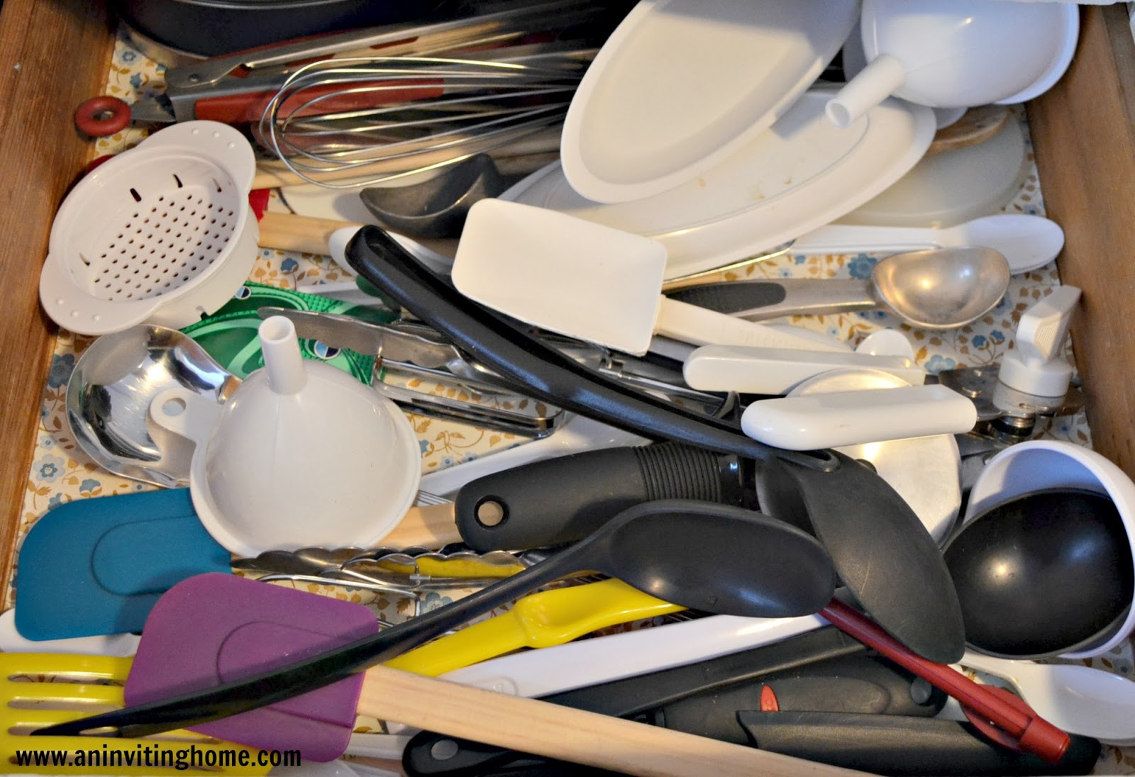 Too many utensils in the drawer