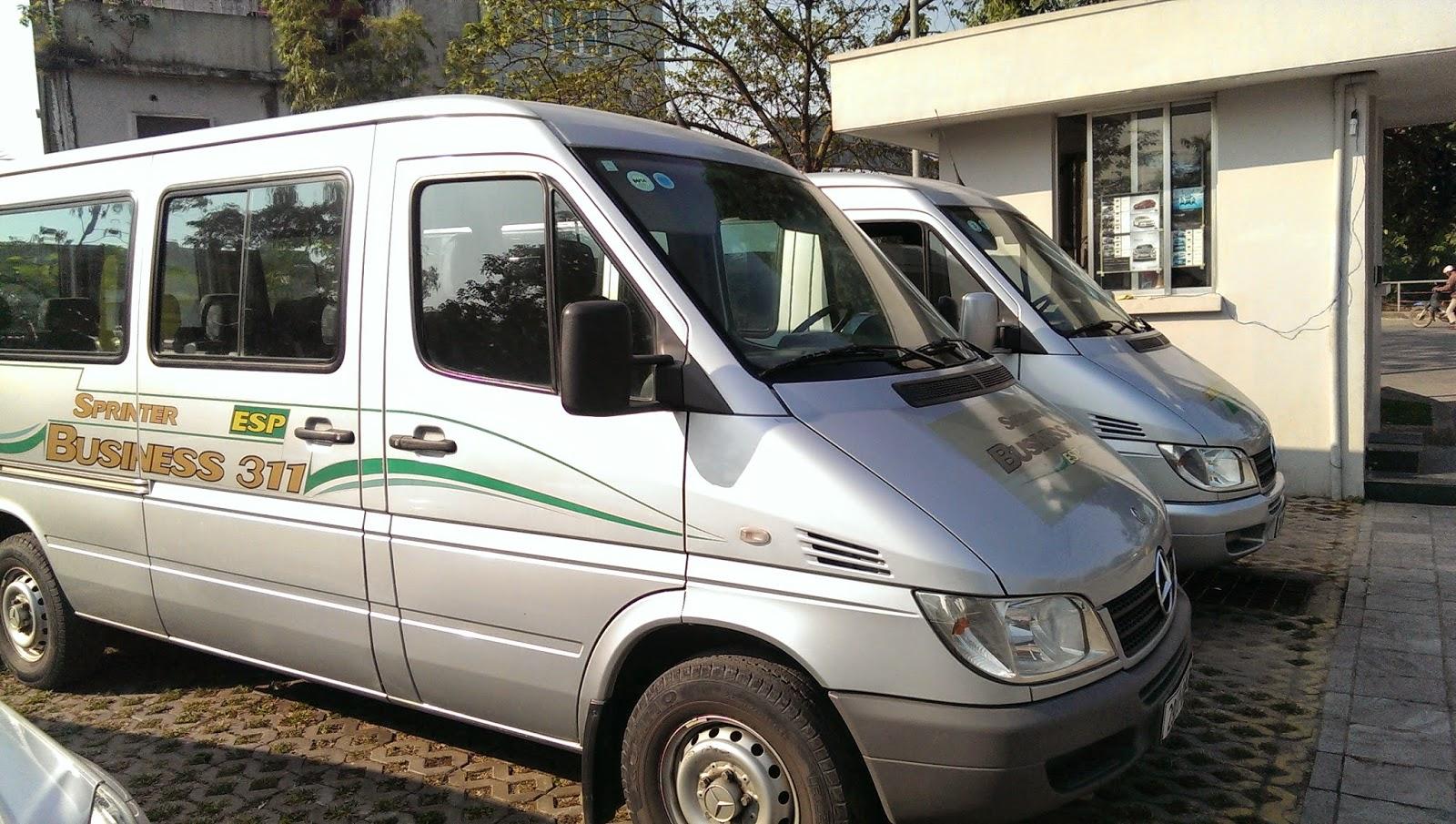 Cho thuê xe ô tô 12 - 16 chỗ du lịch tại Hà Nội