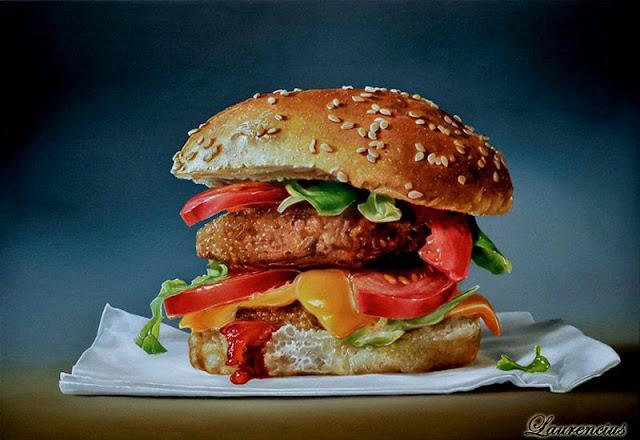 2-Lukisan-Makanan-Karya-Tjalf-Sparnaay-cheeseburger