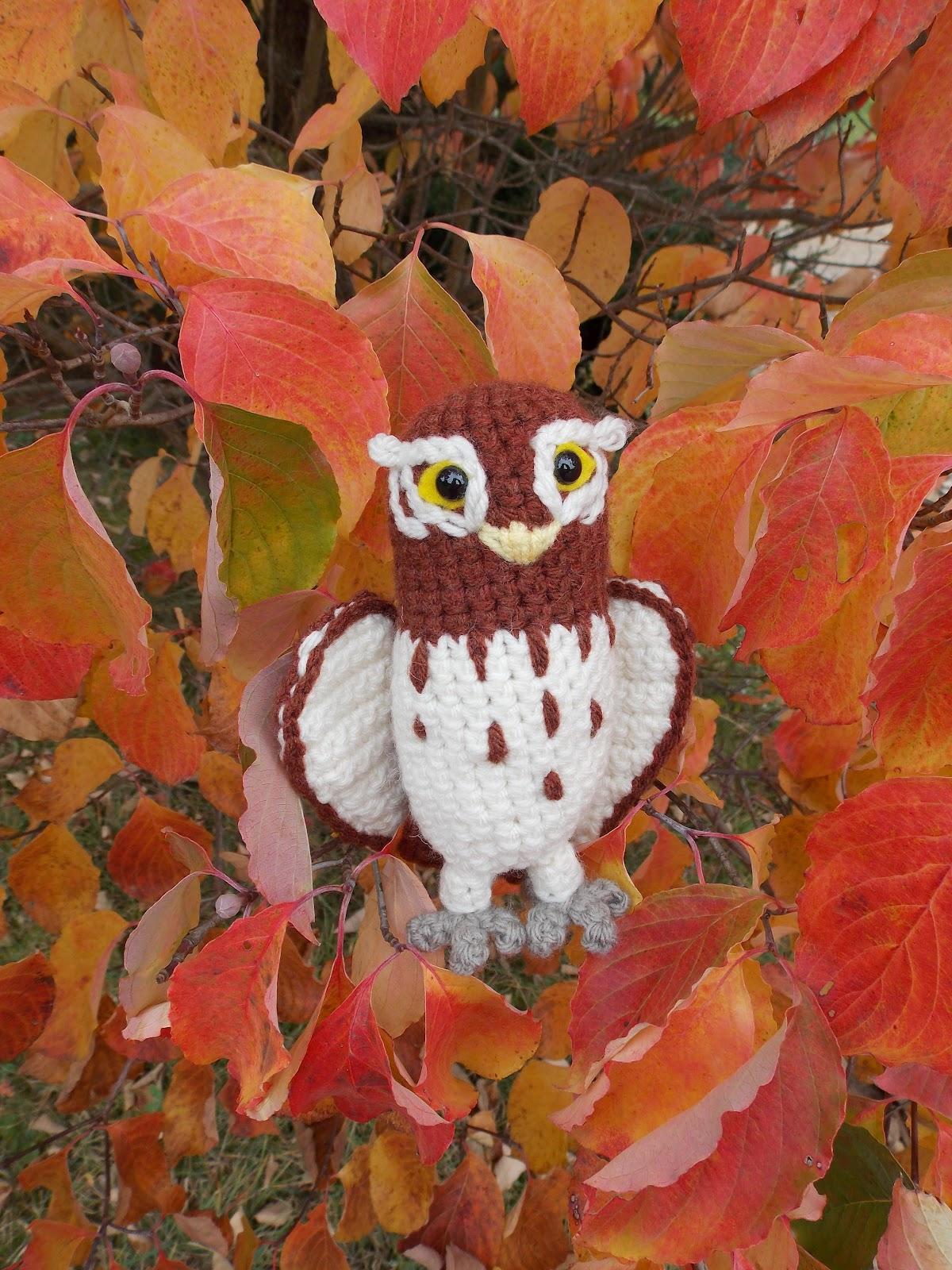 Great Grey Crochet 2012 Flipper Owl Hearty Orange Gylfie The Elf