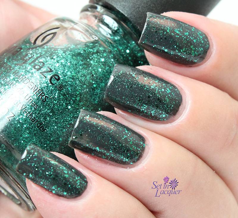 China Glaze - Pine-ing for Glitter