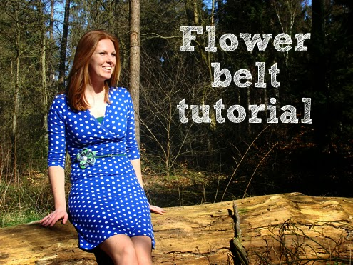 Fabric flower belt tutorial