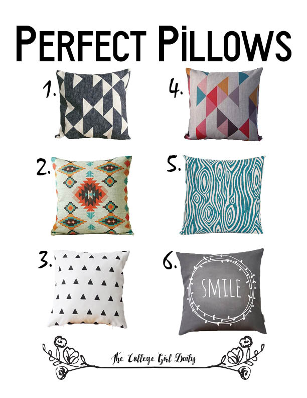 cute pillows, pillows, pillow cover, covers, comfy, throw pillow, geometric, apartment, dorm room, dorm decorations,