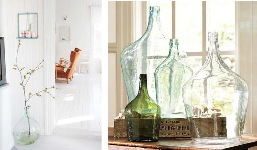 Arte y arquitectura ideas para decorar con botellas - Decorar jarrones de cristal ...