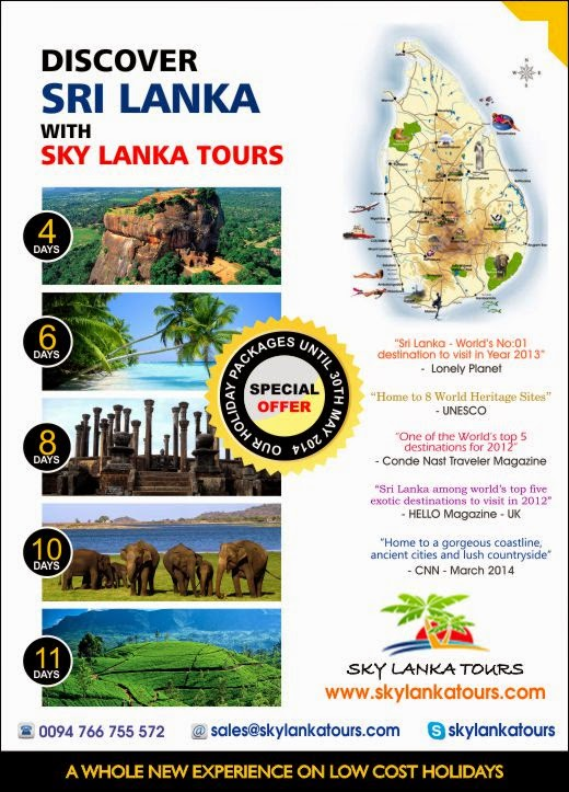 Discover Sri Lanka With Sky Lanka Tours.
