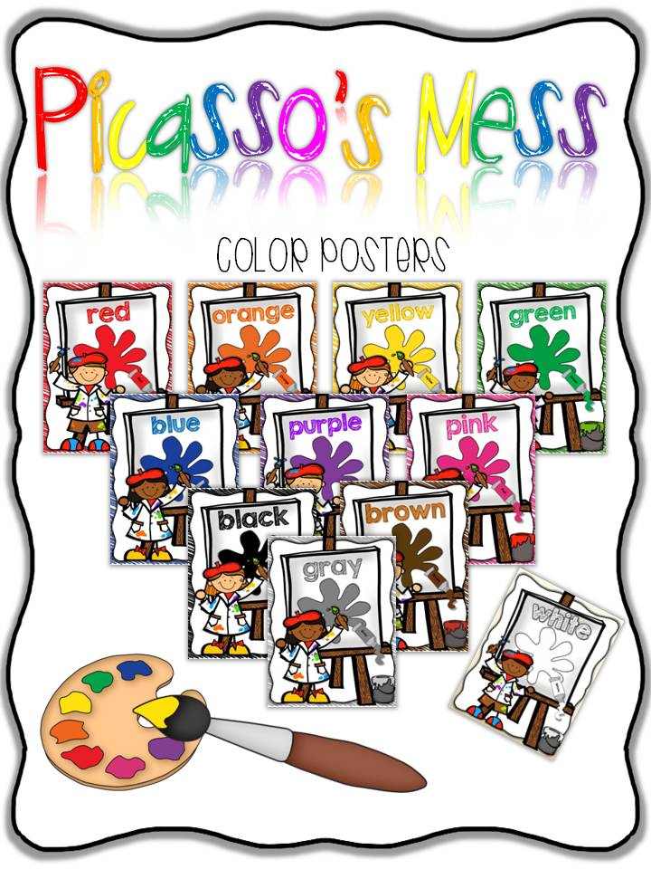 http://www.teacherspayteachers.com/Product/Picassos-Mess-Color-Posters-807989