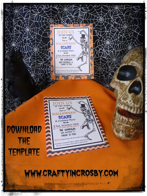 Halloween Invitation Template by Crafty In Crosby