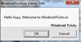 Create Error Message with Different Buttons & Icons