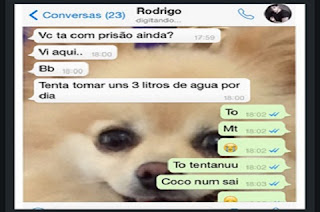Adriana Sant'Anna postou um print bem constrangedor de uma conversa sua com o ex-BBB Rodrigão. A ex-BBB fala para o noivo que não está conseguindo fazer cocô.