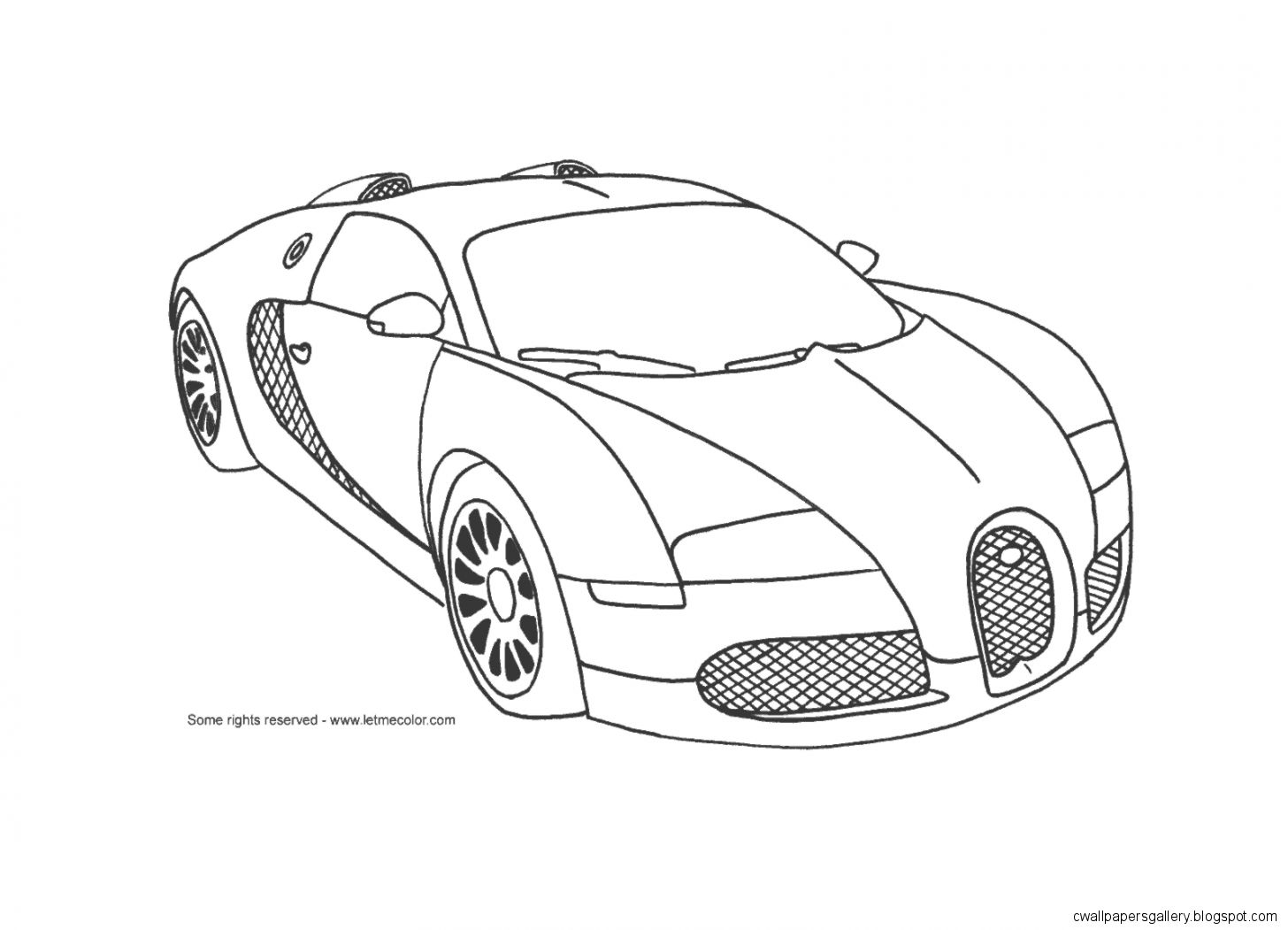 Bugatti Car Coloring Pages