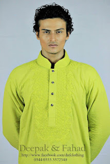 Deepak and Fahad Eid Kurta Collection 2013-2014 For Men