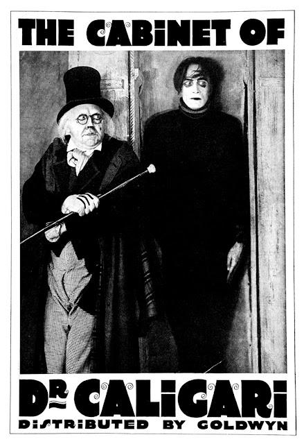 "Cartel de ""El Gabinete del doctor Caligari"" (Robert Wiene, 1920)"