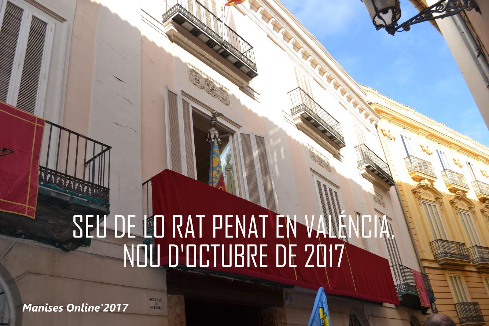 09.10.17 NOU D'OCTUBRE, DIA DE LA PATRIA VALENCIANA