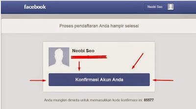 Email verifikasi Facebook