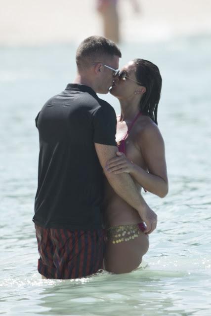 Danielle Lloyd – Pink Bikini Candids in Barbados