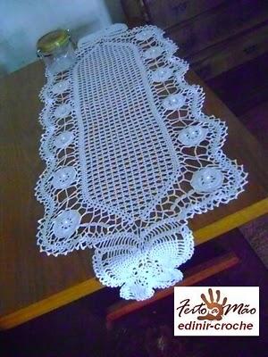 caminhos de mesa em croche em Edinir-croche blog