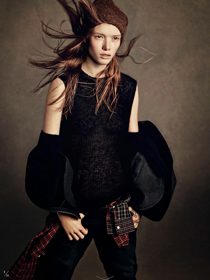 Julia Hafstrom By Andreas Sjodin For Elle Sweden September 2014