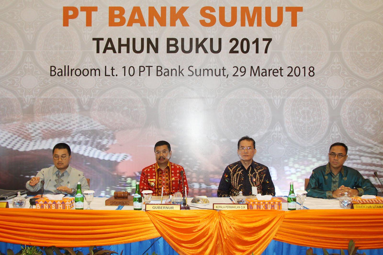 Apresiasi Laba Bersih, Gubsu Pimpin RUPS danRUPS-LB Bank Sumut