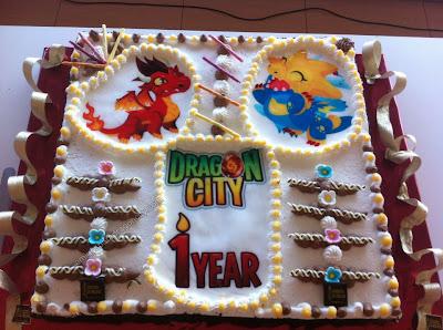 imagen de pastel de aniversario de dragon city