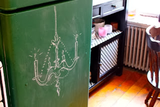 Upgrade your fridge with chalkboard paint