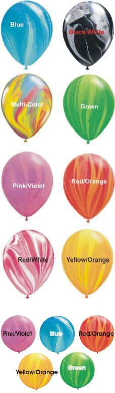 Balloon Stop Your One Stop Party Shop Balloon Color Charts