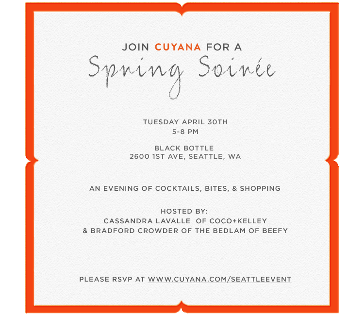 Cuyana Spring Soirée Invite - Click Here to RSVP
