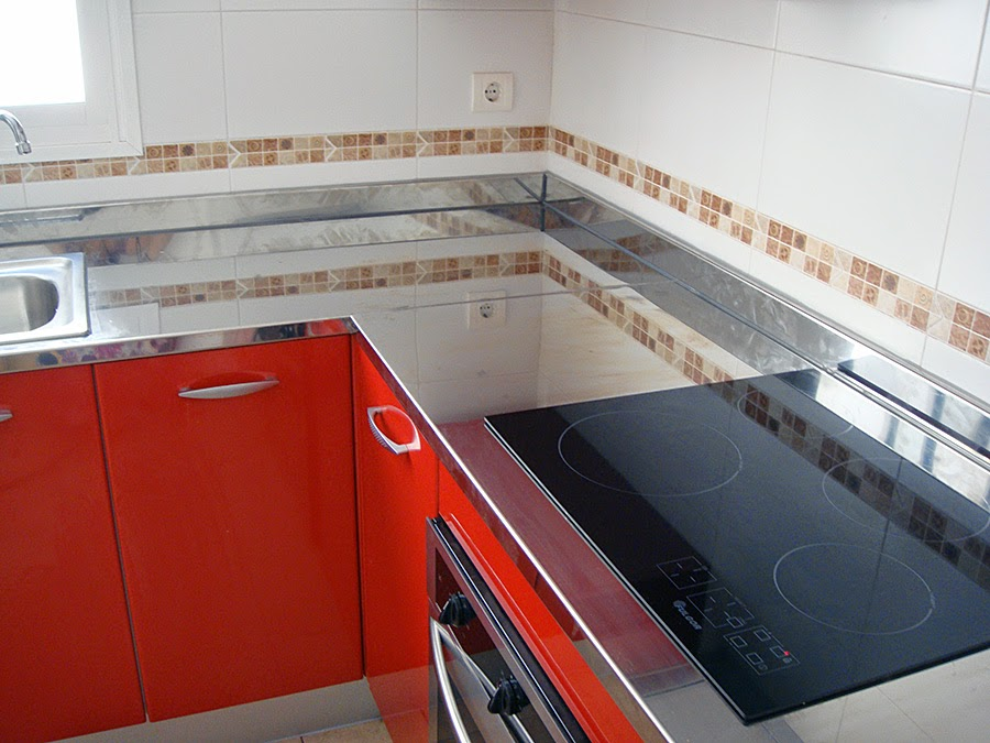 Muebles f y m ourense encimera de cocina for Encimera acero inoxidable