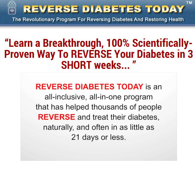 Reverse Diabetes Today!
