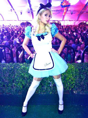 Paris Hilton Dressed As Alice