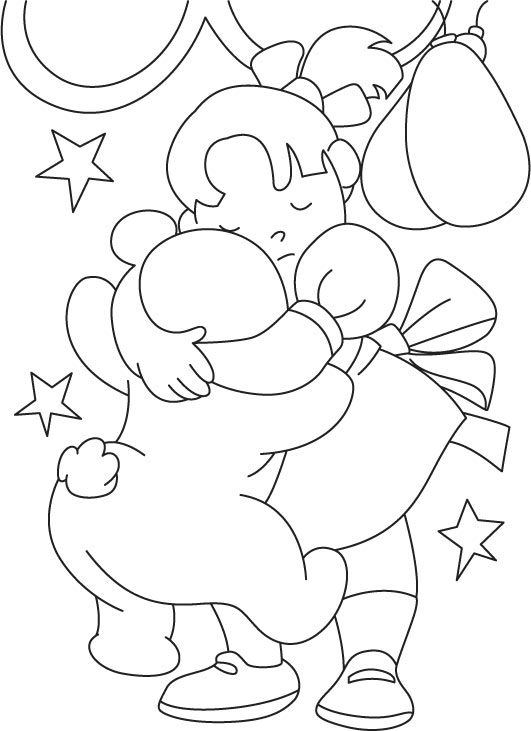 kids friendship coloring pages - photo#16