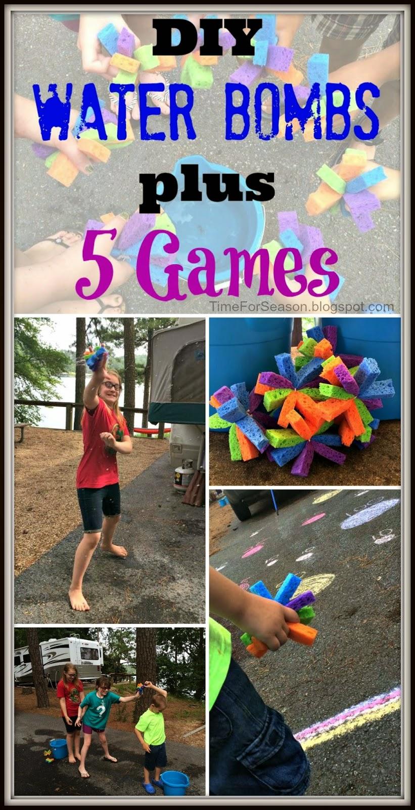 http://timeforseason.blogspot.com/2014/07/5-water-bomb-sponge-games-diy.html