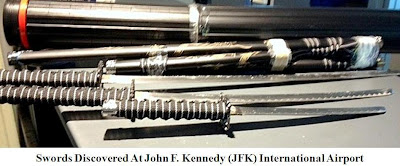 Swords discovered at John F. Kennedy International Airport.  (JFK)