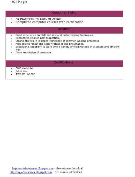 welding assistant resume welder resume sample objective http