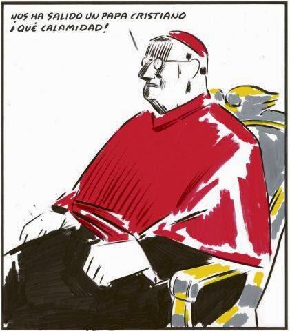 La viñeta de El Roto, a propósito del nombramiento del Papa Francisco