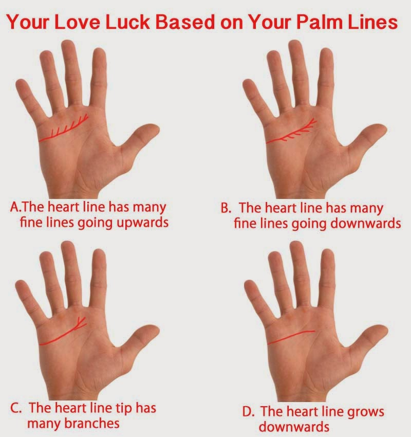 palm line YOUR LOVE LUCK BASED ON YOUR PALM LINES