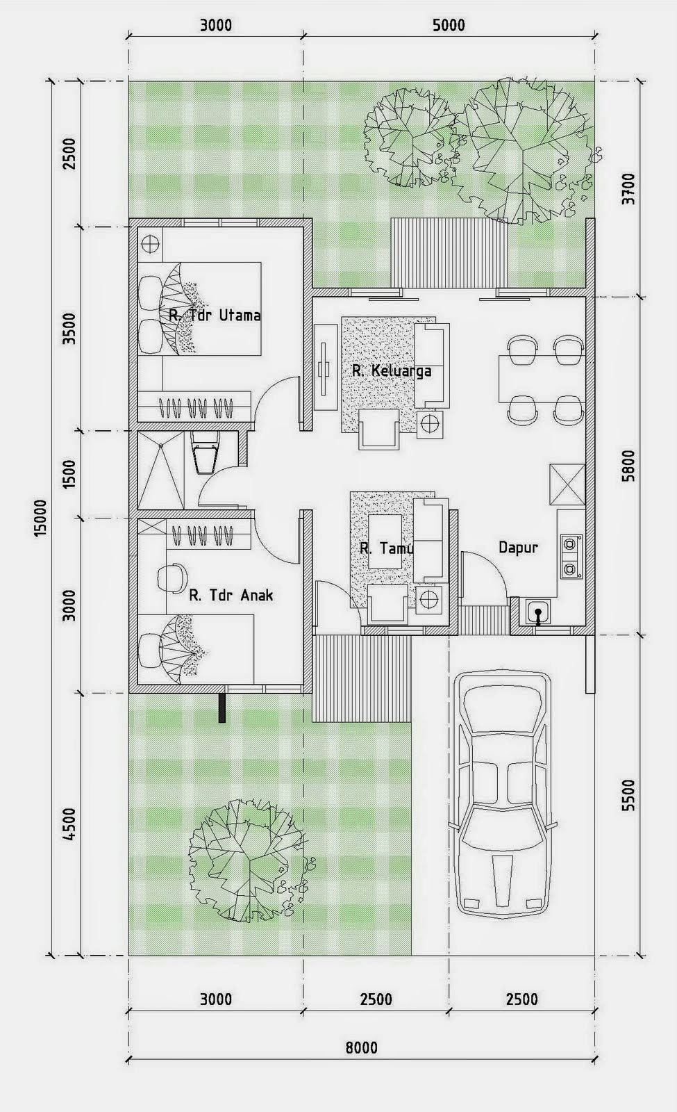 Gambar Desain Rumah Minimalis Type 54