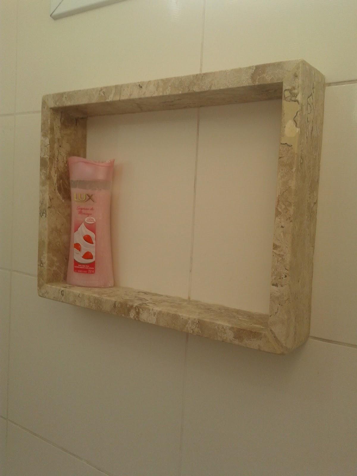 Meu primeiro Apartamento: Banheiro com mármore instalado #50381F 1200x1600 Banheiro Com Nicho Como Fazer