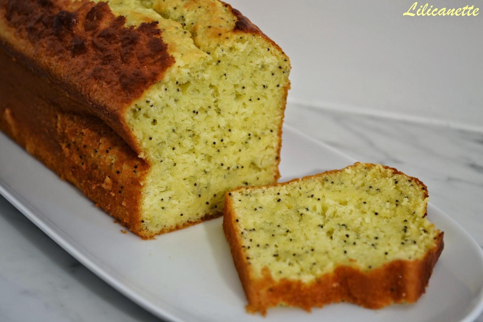 Cake Au Citron Et Pavot Moelleux