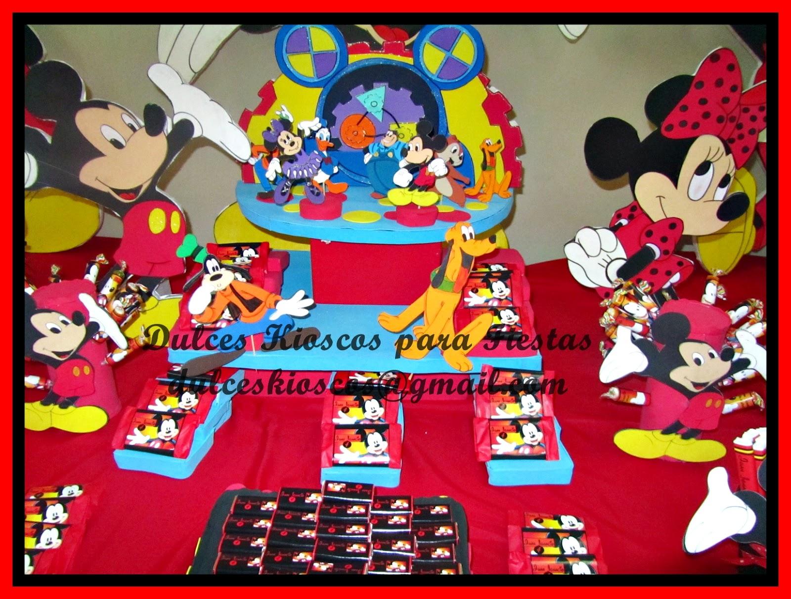 Decoracion Kiosco Golosinas ~ Infaltable Mickey Mouse!! kiosco lleno de golosinas personalizadas