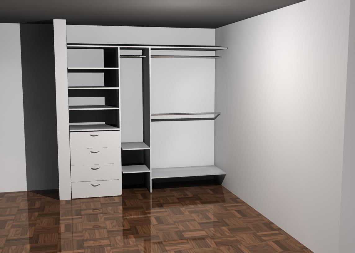 Akire design abril 2011 for Closet de madera para dormitorios pequenos