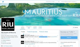 Page Twitter de RIU en berne