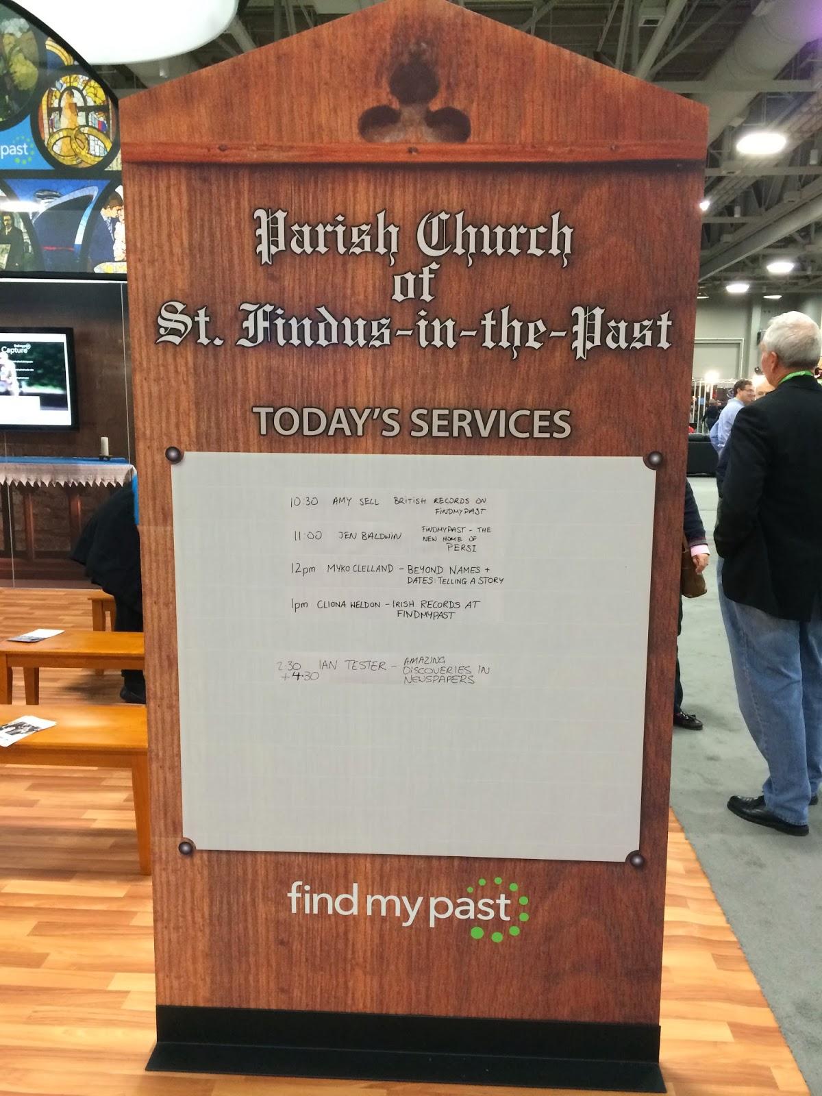 FindMyPast Exhibit in Expo Hall