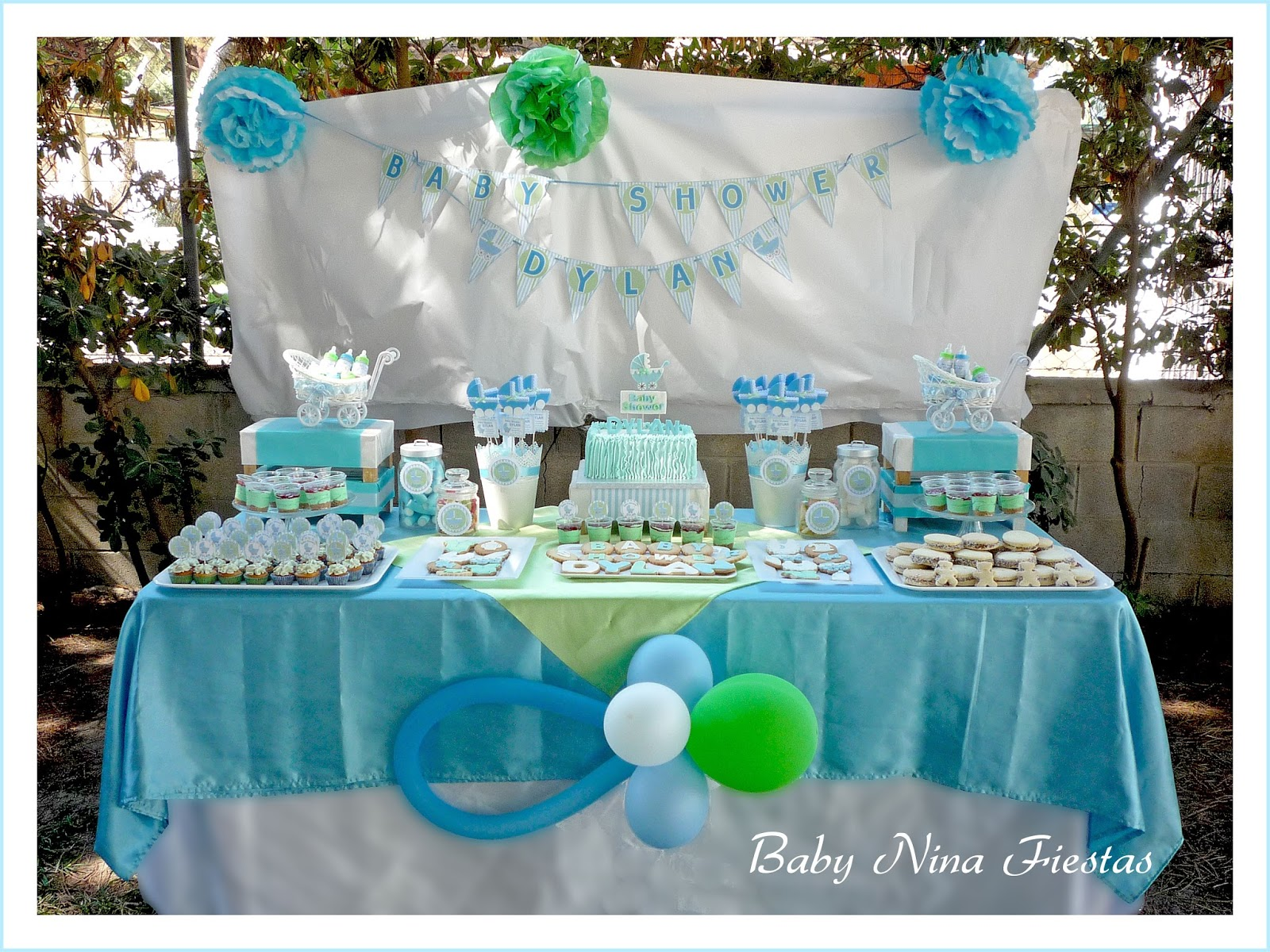 Mesas decoradas para baby shower ni o m wall decal - Mesa de baby shower nino ...