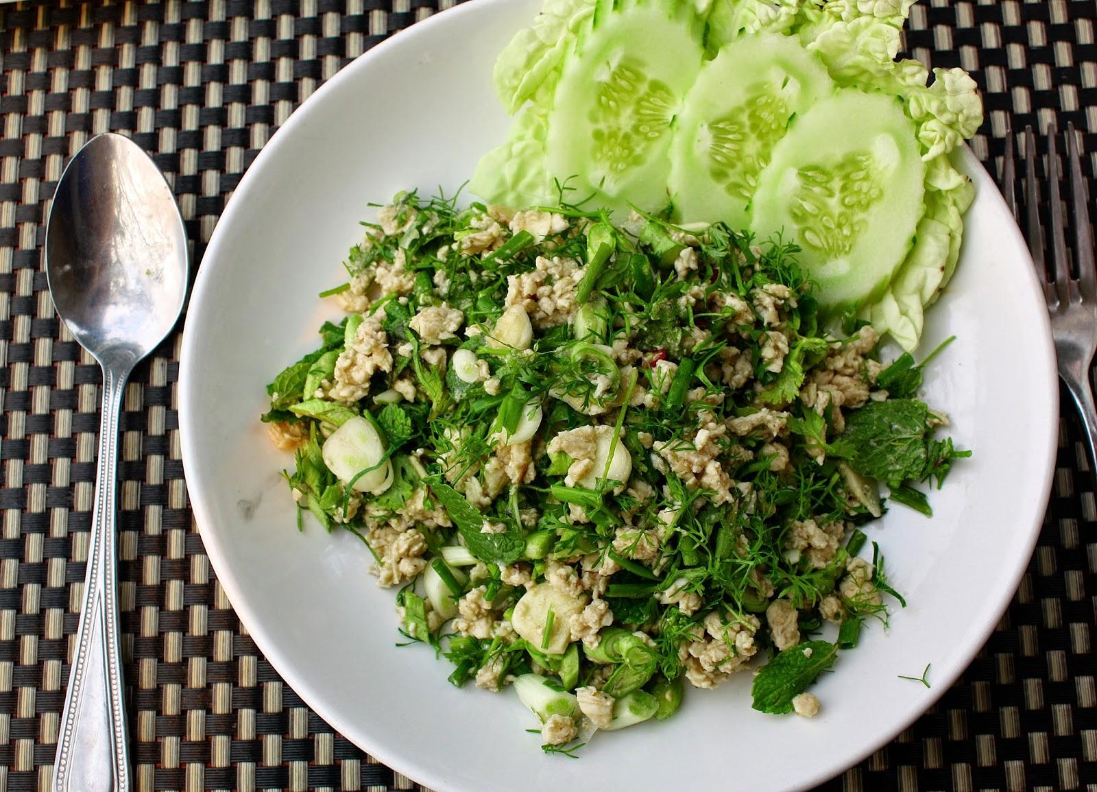 Rezept Chicken Laap Hühnchensalat aus Laos