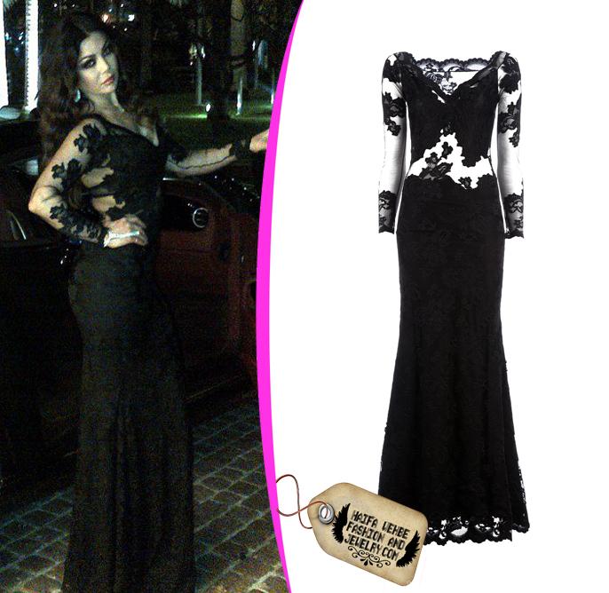 Haifa Wehbe Fashion And Jewelry Haifa Wehbe Wearing Balensi Lace Dress