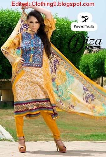 Fiza Fatima Lawn 2015 By Pardesi Textile